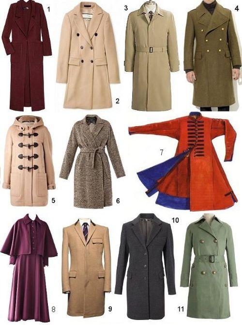 Какие бывают пальто?