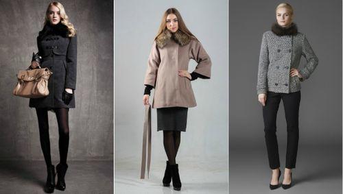 Красивое драповое пальто