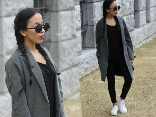 Выбираем пальто серого цвета