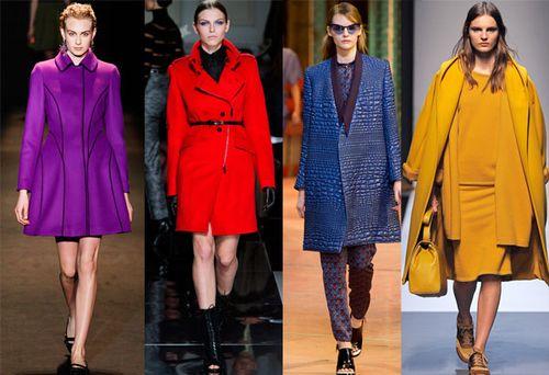 Выбираем цветное пальто